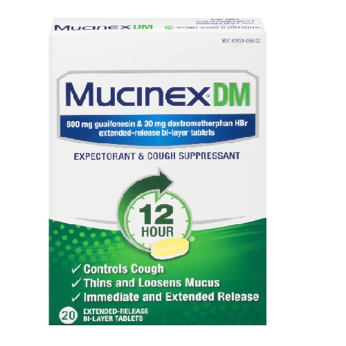 MUCINEX DM EXPECTORANT & COUGH SUPPRESSANT 20tablets