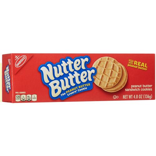 NABISCO NUTTER BUTTER PEANUT BUTTER SANDWICH COOKIES 4.8oz
