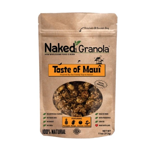 NAKED GRANOLA TASTE OF MAUI COCONUT MANGO PINEAPPLE & CASHEWS 11oz