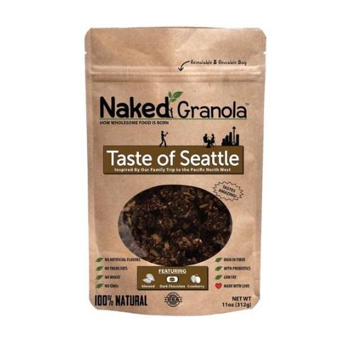 NAKED GRANOLA TASTE OF SEATTLE ALMONDS CRANBERRY & DARK CHOCOLATE 11oz