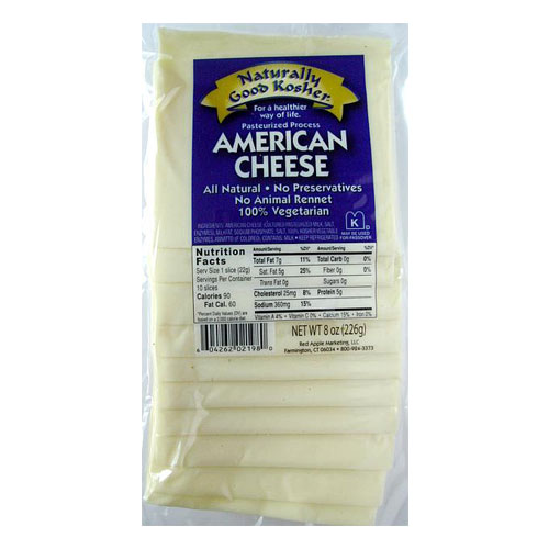 NATURALLY GOOD KOSHER SLICED AMERICAN CHEESE 8oz.