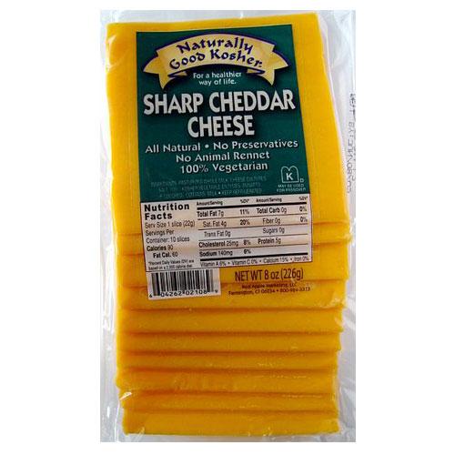 NATURALLY GOOD KOSHER SLICED SHARP CHEDDAR 8oz.