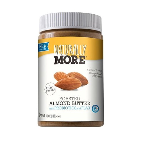 NATURALLY MORE ROASTED ALMOND  BUTTER SPREAD 16oz