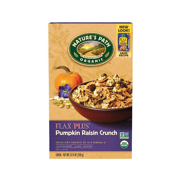 NATURE'S PATH ORGANIC GLUTEN FREE CEREAL FLAX PLUS PUMPKIN RAISIN 12.35oz
