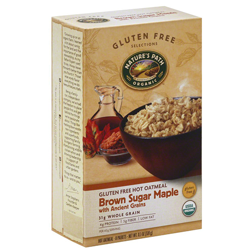 NATURE'S PATH ORGANIC GLUTEN FREE OATMEAL BROWN SUGAR MAPLE 11.3oz