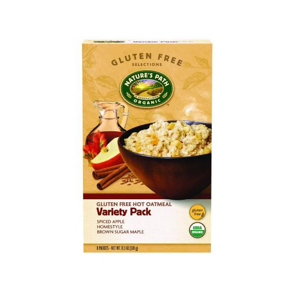 NATURES PATH ORGANIC GLUTEN FREE OATMEAL VARIETY PACK 11.3oz