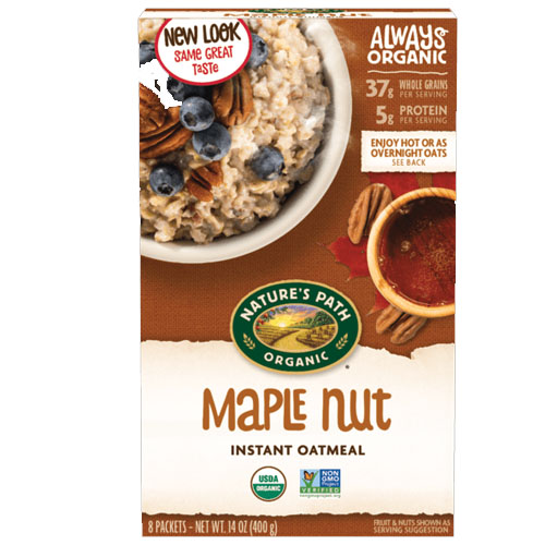 NATURE'S PATH ORGANIC INSTANT OATMEAL MAPLE NUT 14oz