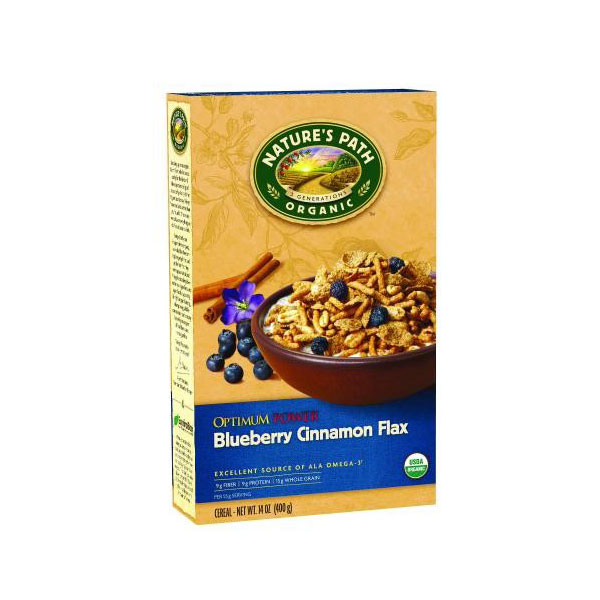 NATURE'S PATH ORGANIC GLUTEN FREE CEREAL OPTIMUM POWER BLUEBERRY FLAX 14oz