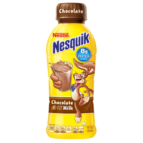 NESTLE NESQUIK CHOCOLTAE LOW FAT MILK 14zo