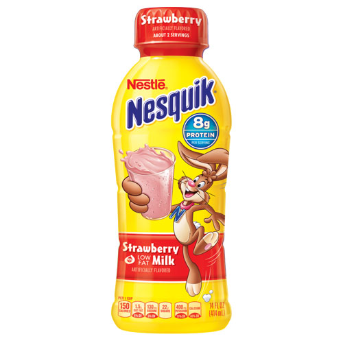 NESTLE NESQUIK STARWBERRY LOW FAT MILK 14oz