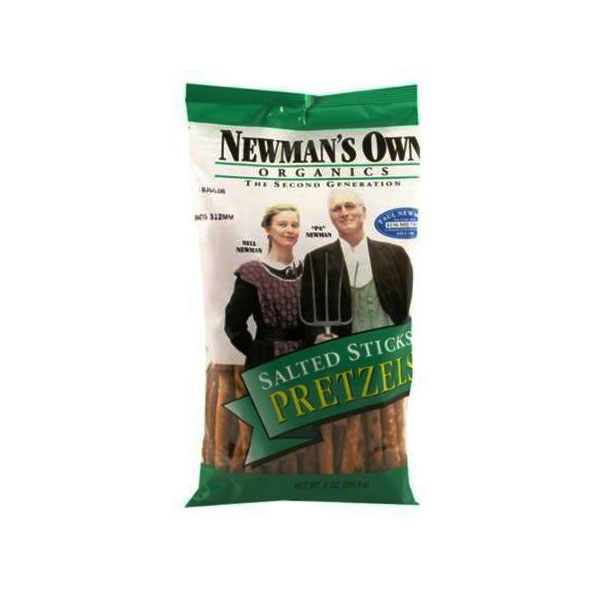 NEWMANS OWN ORGANIC SALTED PRETZEL STICKS 8oz