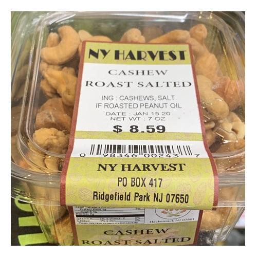 NY HARVEST CASHEW ROAST SALTED 7oz