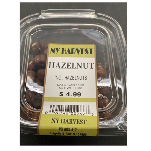 NY HARVEST HAZELNUT 6oz