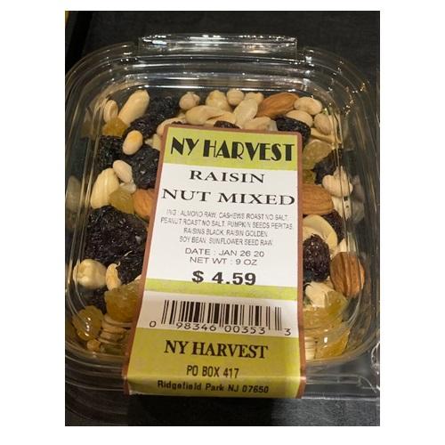 NY HARVEST RAISIN NUT MIXED 9oz
