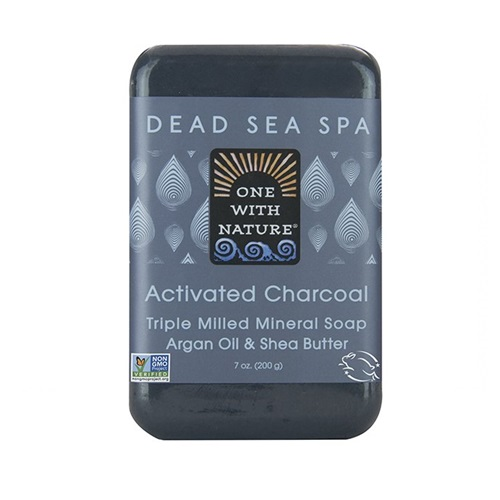 ONE WITH NATURE SOAP ACTIVATED CHARCOAL 7oz