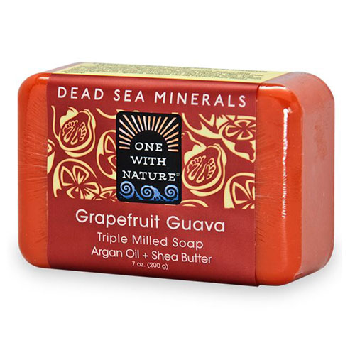 ONE WITH NATURE SOAP GRAPEFRUIT GUAVA 7oz