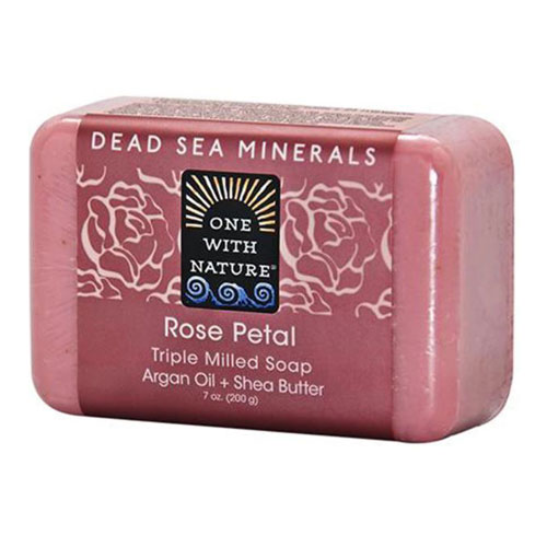 ONE WITH NATURE SOAP ROSE PETAL 7oz