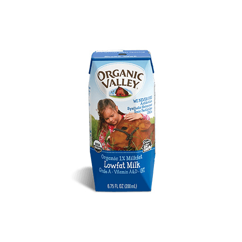 ORGANIC VALLEY 1% MILK 6.75oz