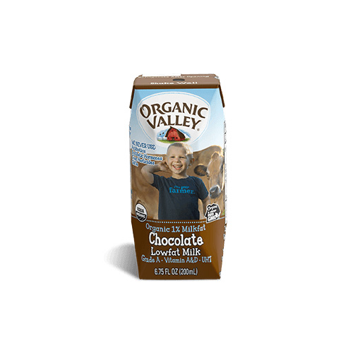 ORGANIC VALLEY CHOCOLATE MILK 1% 6.75oz