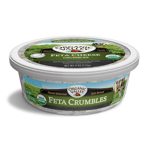 ORGANIC VALLEY CRUMBLES FETA CHEESE 4oz.