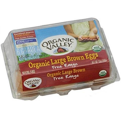 ORGANIC VALLEY EGGS LARGE BROWN 6PK