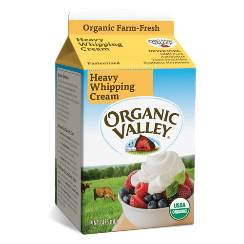 ORGANIC VALLEY HEAVY WHIPPING CREAM 16oz