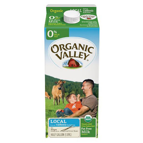 ORGANIC VALLEY MILK FAT FREE 0% 64oz