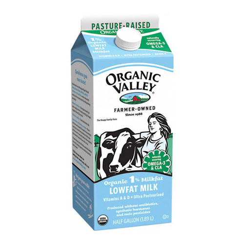 ORGANIC VALLEY MILK LOW FAT 1% 64oz