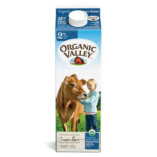 ORGANIC VALLEY MILK REDUCED FAT 2%