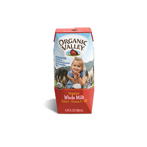 ORGANIC VALLEY WHOLE MILK 6.75oz