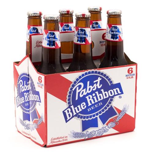 PABST BLUE RIBBON 12oz 6pk.