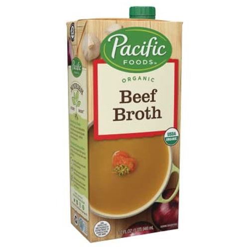 PACIFIC ORGANIC BEEF BROTH LOW SODIUM 32oz