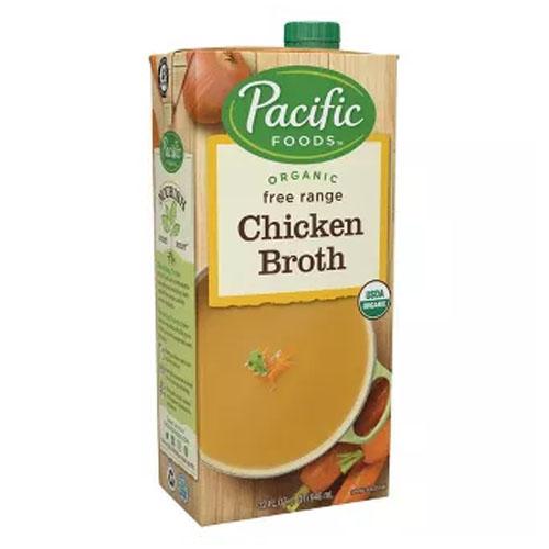 PACIFIC ORGANIC FREE RANGE CHICKEN BROTH 32oz