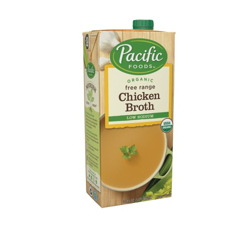 PACIFIC ORGANIC FREE RANGE LOW SODIUM CHICKEN BROTH 32oz