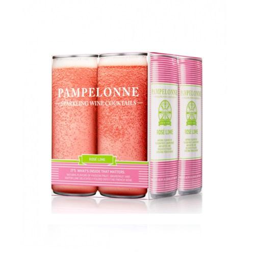 PAMPELONNE SPARKLING WINE ROSE LIME 8.4oz 4pk.