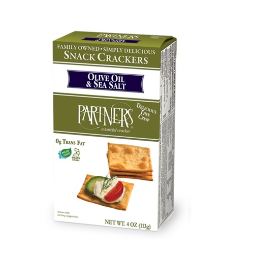 PARTNERS SNACK CRACKERS OLIVE OIL & SEA SALT 4oz