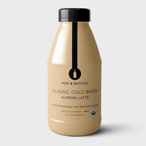 POP & BOTTLE PLANT POWERED COLD BREW ALMOND LATTE CLASSIC 11oz