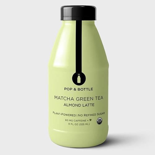 POP & BOTTLE PLANT POWERED ALMOND MILK MATCHA GREEN TEA 11oz