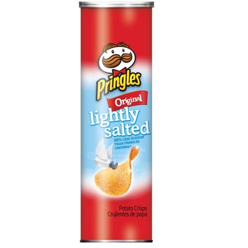 PRINGLES POTATO CRISPS LIGHTLY SALTED ORIGINAL 5.2oz.