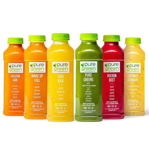 PURE GREEN COLD PRESSED JUICE 16oz