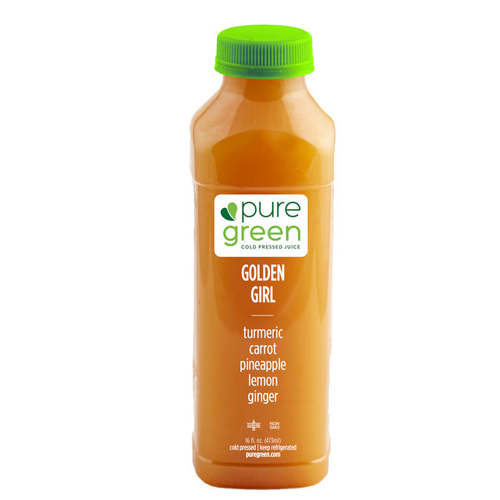 PURE GREEN COLD PRESSED JUICE GOLDEN GIRL 16oz
