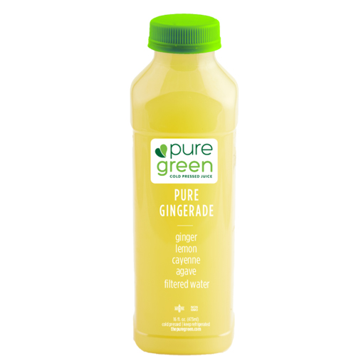 PURE GREEN COLD PRESSED JUICE PURE GINGERADE 16oz