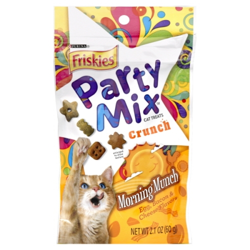 PURINA FRISKIES PARTY MIX CRUNCH MORNING MUNCH CAT TREATS 2.1oz