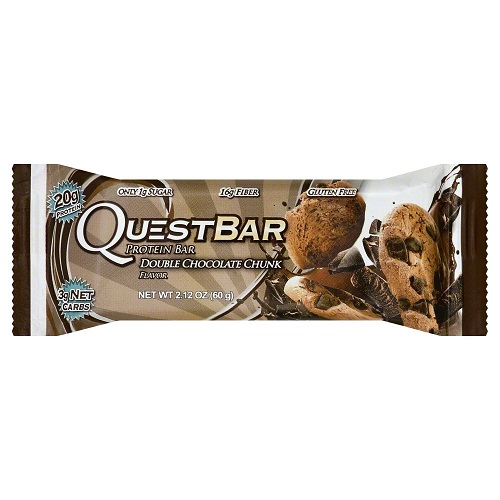 QUESTBAR GLUTEN FREE DOUBLE CHOCOLATE CHUNK PROTEIN BAR 2.12oz