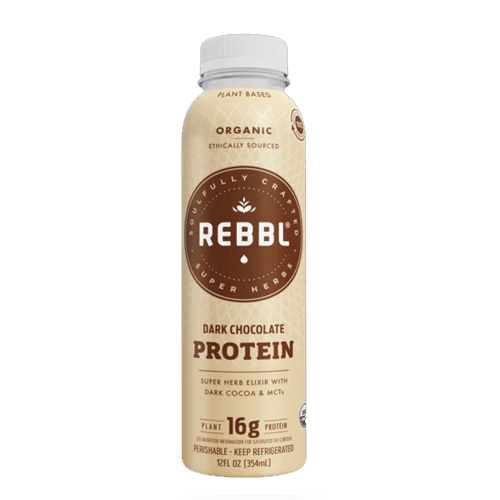 REBBL PLANT BASED PROTEIN DARK CHOCOLATE 12oz