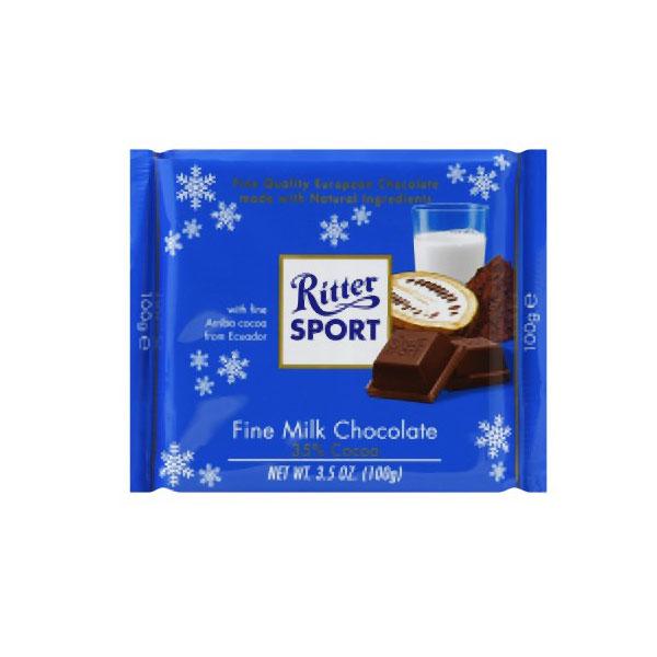 RITTER SPORTS FINE MILK CHOCOLATE COCOA 3.5oz