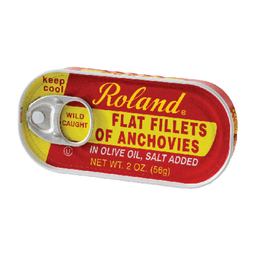 ROLAND FLAT FILLET OF ANCHOVIES IN OIL 2oz.