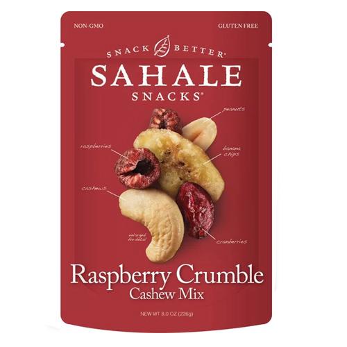 SAHALE SNACKS RASPBERRY CRUMBLE CASHEW TRAIL MIX 8oz