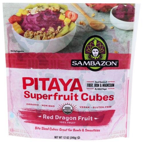 SAMBAZON SUPERFRUIT CUBES PITAYA RED DRAGON FRUIT 12oz