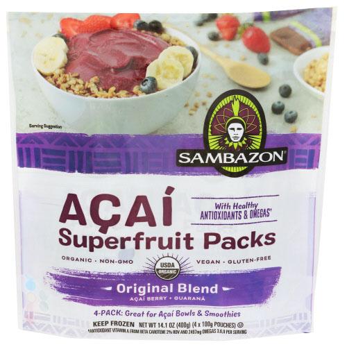 SAMBAZON SUPERFRUIT PACKS ACAI ORIGINAL BLEND 14.1oz